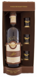 Beluga Allure Vodka BOX 40% bőr dd.+ 3 pohár